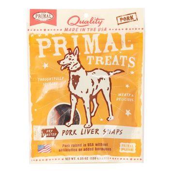 Primal Dry-Roasted Pork Liver Snaps Dog Treats