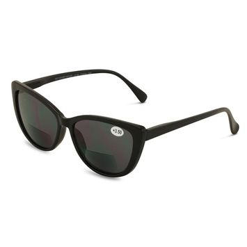 Women Bifocal Reading Sunglasses Reader Glasses Cateye Vintage Jackie O Leopard [name: size value: size-1.50]