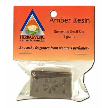 Herbal Vedic Amber Resin Rosewood Box Small 1 Count