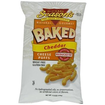 Michael Season's Baked Cheddar Cheese Puffs, 5.5 Ounce Bags (Pack of 12)