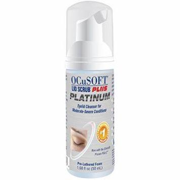 OCuSoft Lid Scrub Plus PLATINUM - Extra Strength Foaming Eyelid Cleanser - 50ml Bottle