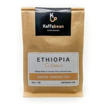 Ethiopian Sidamo Coffee, Green Unroasted Coffee Beans (2lb)