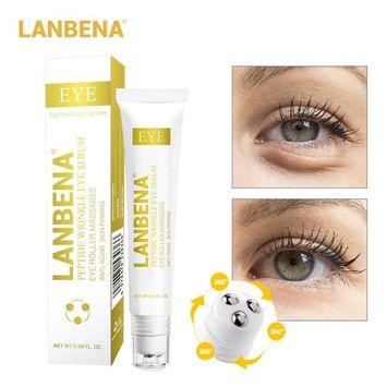 Peptide Wrinkle Eye Serum Anti-Puffiness Eye Roller Massages for Eye Clearly Brighter+Remove Fine Lines Dark Circle Eye Bag+Skin Anti-Aging Moisturizing+ Anti Fatigue Edema