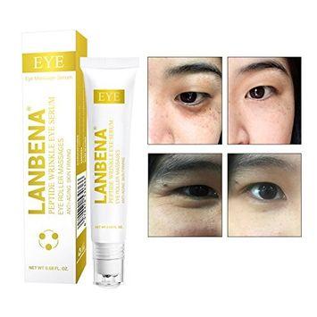Anti-aging Peptide Repair Hydrating Eye Serum,Peptide Serum Essence Rollerball Repair Puffy Eyes, Dark Circles,Wrinkles,Crows Feet and Eye Bags.