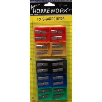 A+ Homework Duel Blades Pencil Sharpeners - 10 count (Pack of 48)