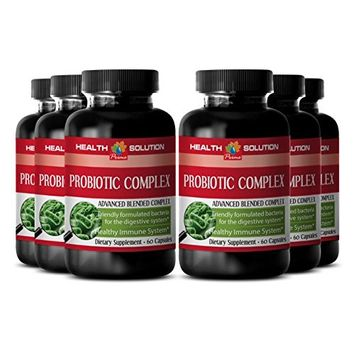 Probiotic with enzymes organic - PROBIOTIC COMPLEX 550MG - boost digestive health (6 Bottles)