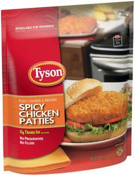 tyson® spicy chicken patties