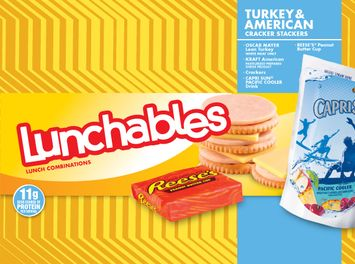 Lunchables Turkey & American Cracker Stackers with  Capri Sun and Reese's Peanut Butter Cup