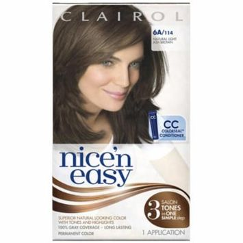 Nice 'n Easy Permanent Color, 6A/114 Natural Light Ash Brown 1 ea (Pack of 3)