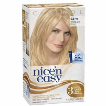 Nice 'n Easy Permanent Color, 9.5/98 Natural Extra Light Neutral Blonde 1 ea (Pack of 6)