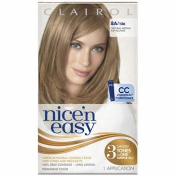 Nice 'n Easy Permanent Color, 8A/106 Natural Medium Ash Blonde 1 ea (Pack of 2)