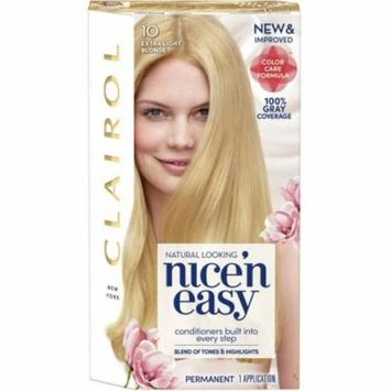 6 Pack - Nice 'n Easy Permanent Color Care Formula, [10] Extra Light Blonde 1 ea