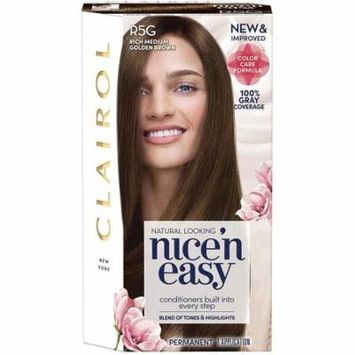 Nice 'n Easy Permanent Color [R5G] Rich Medium Golden Brown 1 Kit