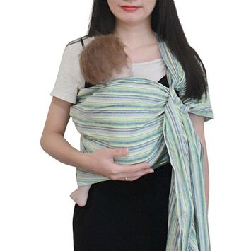 Vlokup Ring Sling Baby Carrier Wrap | Luxury lightweight Breathable Linen Baby Slings for Infant, Newborn, Kids and Toddlers | Adjustable, Breastfeeding, Shower Gift Black