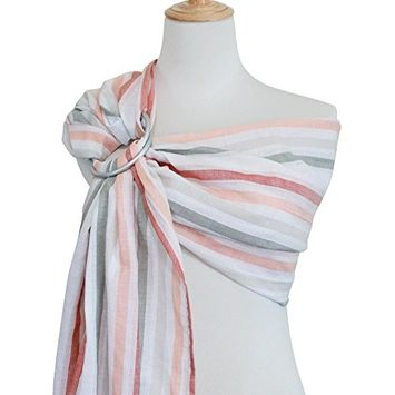 Vlokup Ring Sling Baby Carrier Wrap | Luxury lightweight Breathable Linen and Cotton Baby Slings for Infant, Newborn, Kids and Toddlers | Adjustable,...