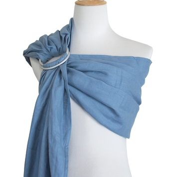 Vlokup Ring Sling Baby Carrier Wrap | Luxury lightweight Breathable Linen Baby Slings for Infant, Newborn, Kids and Toddlers | Adjustable, Breastfeeding,...