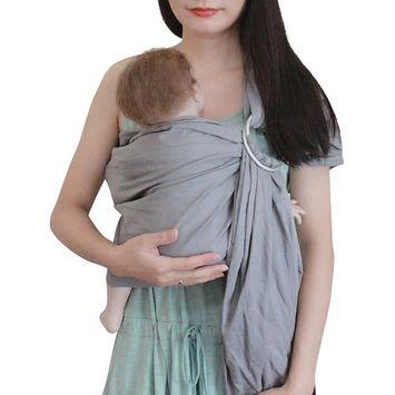 Vlokup Baby Linen Ring Sling Carrier Wrap | Extra Soft Lightweight Baby Slings for Infant, Toddler, Newborn and Kids | Great Gift, Adjustable Nursing Cover Blue