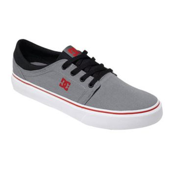 DC Trase TX Shoes Size 10.5 Grey/Black/Red