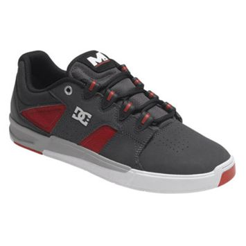 DC Maddo Shoes Size 9 Grey/Red/White