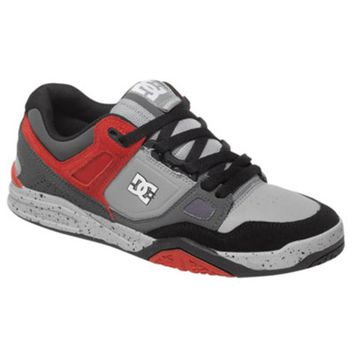 DC Stag 2 Shoes Size 13 Grey/Grey/Red