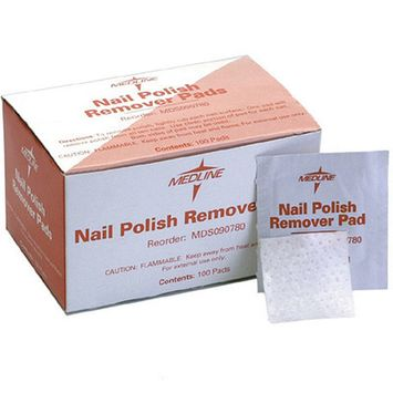 100 Medline Nail Polish Remover Pads No Non Acetone