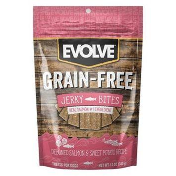 Evolve Grain-Free Jerky Bites Salmon Dog Treats - 12oz