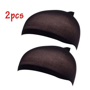 EYX Formula Pack of 2 Soft Nylon Tight Light Wig Cap ,Stretch Cover Wig Cap for Protecting Head and Hair