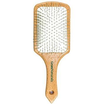 GranNaturals Detangling Metal Pin Bristle Wooden Paddle Hair Brush