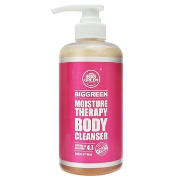 Big Green Moisture Therapy Body Cleanser 17 fl oz.-Natural Ingredients, Sulfate Free-Fresh Citrus Scent-100% Essential Oils-Nourishing Body Wash