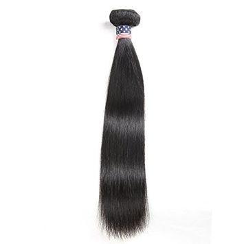 Vshow Hair 1 Bundle 8 Inch Malaysian Virgin Hair Straight Hair 7A Unprocessed Malaysian Hair Bundles Natural Color 1B Human Hair Weave Extensions (1 Bundle 8inch)