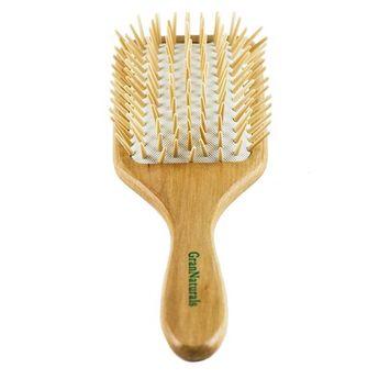 Wooden Bristle Paddle Hair Brush | Length 10.25