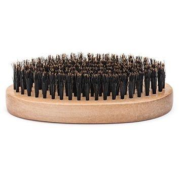GranNaturals Boar Bristle Hair + Beard Brush for Men -