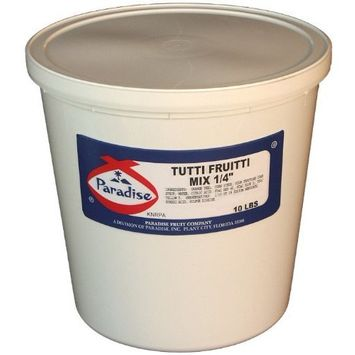 Paradise Tutti Fruitti Mix 1/4 Inch, 10 Pound Tub