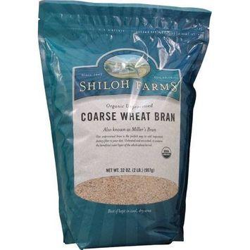 Shiloh Farms Organic Coarse Wheat Bran Unprocessed -- 32 oz(Pack of 2)