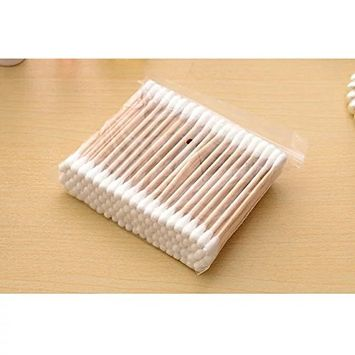EYX Formula Portable 300 Pcs Cotton Swabs with Wooden Handle,Safe Clean Cotton Swabs for Beauty and Body Skin.