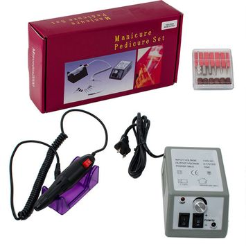 iMeshbean 20,000 RPM Professional Electric Acrylic Nail Art Drill File Bits Manicure / Pedicure Machine Kit Tool Set