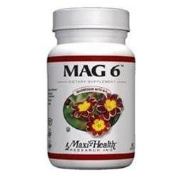 Maxi-Health Research Kosher Vitamins - Mag 6 Magnesium With B-6 - 60 Capsules CLEARANCE PRICED