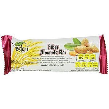 Oskri Organics Oskri Fiber Bar, Almonds, 1.9-Ounce (Pack of 20)