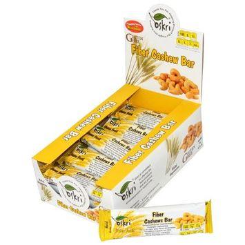 Oskri Organics Oskri - Fiber Bar Gluten-Free Cashew - 1.9 oz.