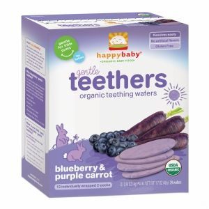 Happy Baby® Organic Teething Wafers, Blueberry & Purple Carrot