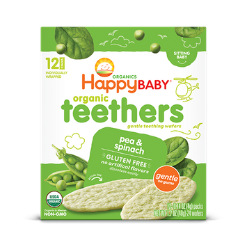 Happy Baby® Organics Teething Wafers, Pea & Spinach