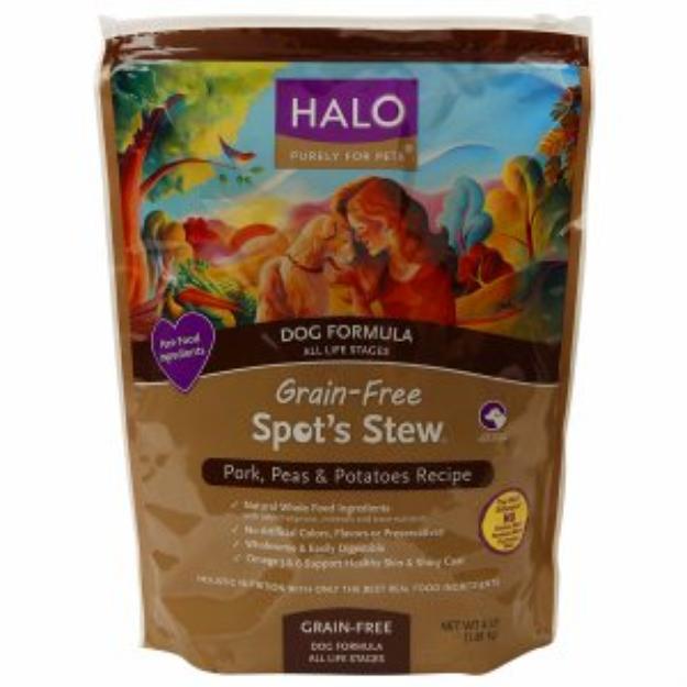 Halo, Purely For Pets Dog Formula, Spot's Stew, Pork, Peas & Potatoes Recipe, 4 lb