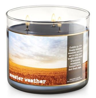 Bath & Body Works® SWEATER WEATHER 3-Wick Candle