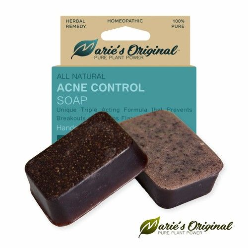 Marie's Original Acne Soap Bar for Face, Body – Handcrafted in USA Pimple Scar Remover Treatment Exfoliating Facial Wash Cleanser for Dry Sensitive Oily Skin, Acne – All Natural, Vegan