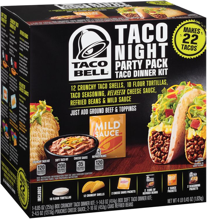 Taco Bell® Taco Night Party Pack Taco Dinner Kit