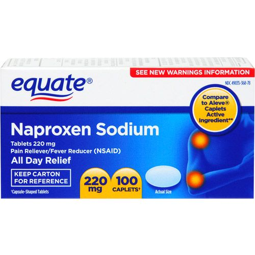 Equate Pain Reliever/Fever Reducer Naproxen Sodium 100 Ct