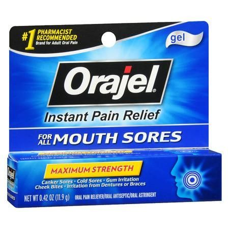 Orajel Oral Pain Reliever Gel for Mouth Sores 0.42 oz.