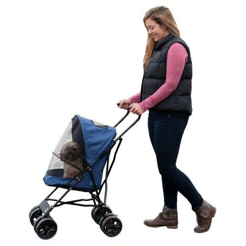 Pet Gear 15.5 in. x 11 in. x 23 in. Navy Travel Lite Pet Stroller