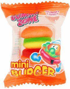 Gummy Zone Sour Mini Burgers
