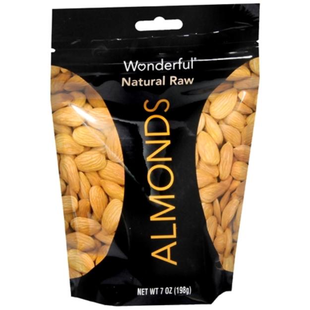 Wonderful Almonds, Raw, 7 oz